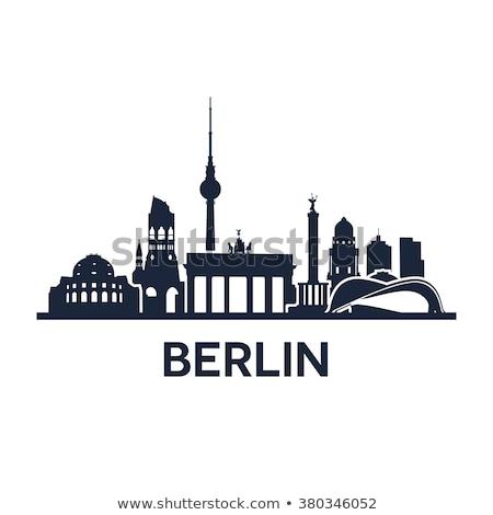 ベルリン スカイライン ドイツ 現代 塔 建物 ストックフォト © dinozzaver