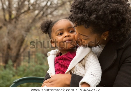 mother with child in park at winter 2 stock photo © paha_l