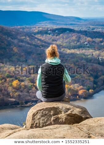 осень · Top · человека · лестниц · вниз · бизнесмен - Сток-фото © rmbarricarte