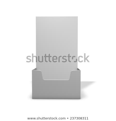 Empty brochure holder Stock photo © magraphics