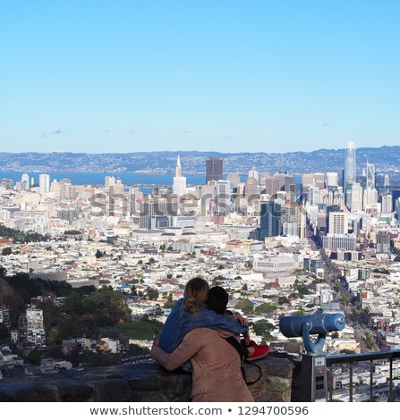 Csúcs felhőkarcoló piramis épület pénzügyi negyed San Francisco Stock fotó © CaptureLight