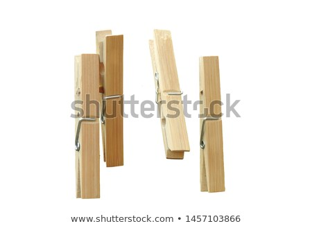 close up of a clothes peg on white background Stock photo © shutswis
