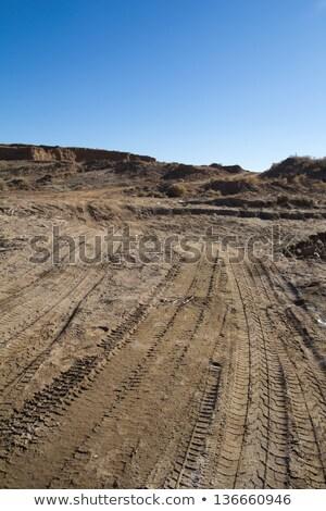 Piasku ciągnika ziemi podróży przemysłu pracownika Zdjęcia stock © vlaru