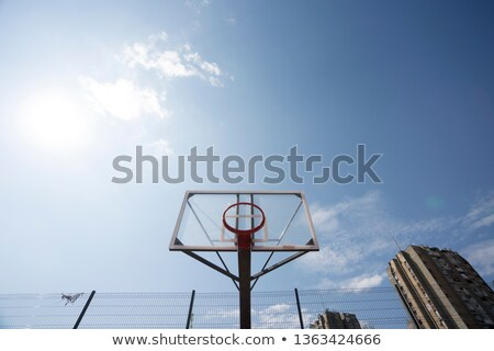 Plexiglass street basketball board with hoop on outdoor court Stock photo © stevanovicigor