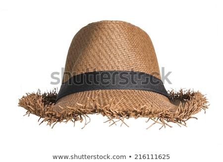 Girl straw hat summer background stock photo © marimorena