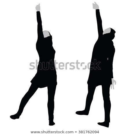 Muslim woman silhouette in victorious pose Stock photo © Istanbul2009