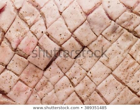domuz · eti · göbek · ekmek · sarımsak · et · yemek - stok fotoğraf © zkruger