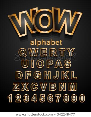 Christmas Alphapet Font to use for children's parties invitations Stock photo © DavidArts