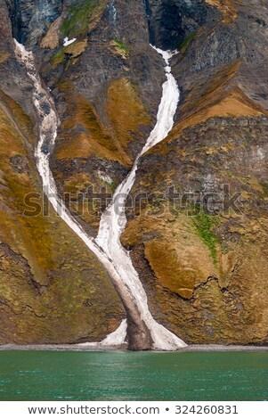 Cielo paisaje montana verde rock Foto stock © dinozzaver