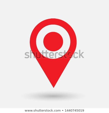 Foto stock: Flat Colored Location Icon