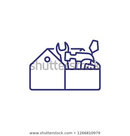 toolbox line icon stock photo © rastudio