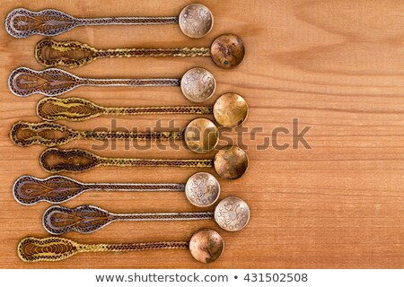 Ornate Ottoman era tea spoons with copy space Stock photo © ozgur