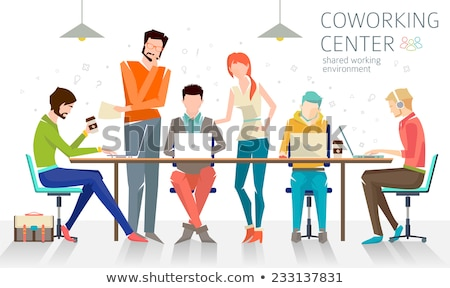 Conversation style personnes illustration affaires Photo stock © bluering