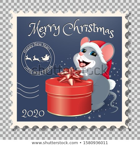 chinese zodiac postage stamp year of the rat stock photo © myfh88