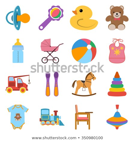 Buttons with rattle toys Stock photo © bluering