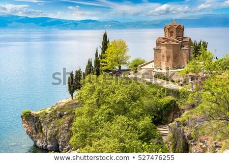 Церкви · озеро · Македонии · небе · природы · пейзаж - Сток-фото © magraphics