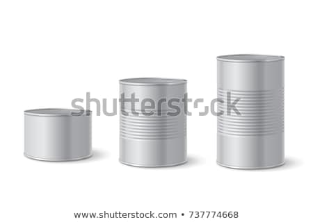 Alimentare tin può isolato bianco store Foto d'archivio © ozaiachin