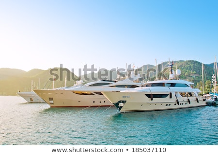 Bay yacht mooring Stock photo © vilevi