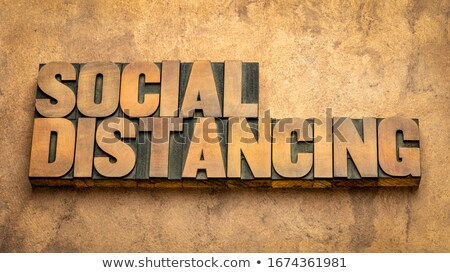 Social Concept Isolated Letterpress Type Stock photo © enterlinedesign