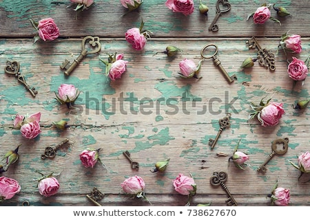 Secret on wooden table Stock photo © fuzzbones0
