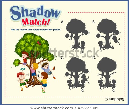 Game template with matching picture Stock photo © bluering