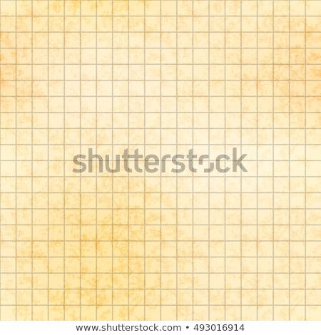 Five millimeter grid on old paper with texture, seamless pattern Stock photo © Evgeny89