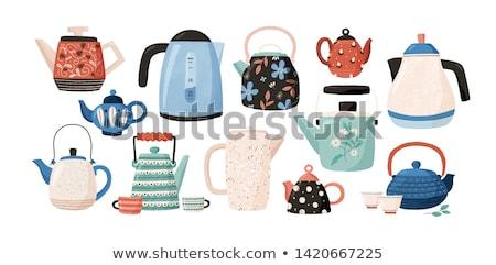 Сток-фото: ярко · цветами · кофе · зеленый · синий · группа