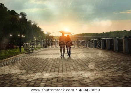 A bridge under the bright sun Stock photo © bluering