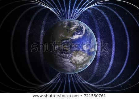 магнитный области иллюстрация науки электроэнергии рисунок Сток-фото © bluering