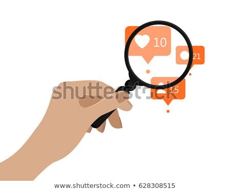 like icon under the magnifying glass stock photo © goir