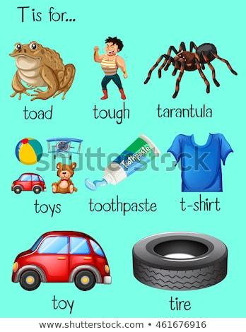 Zahnpasta Illustration Kinder Kind Hintergrund Stock foto © bluering