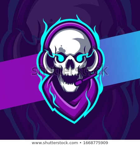 Paintball team logo and emblem. scary skull  in paintball  mask  Stock photo © popaukropa