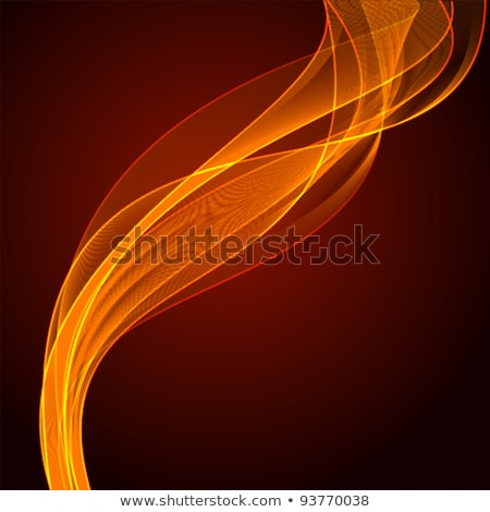 Bright fiery lines on black background Stock photo © Natali_Brill