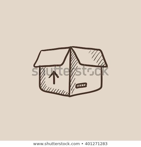 carton package box sketch icon stock photo © rastudio