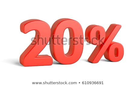 Rojo veinte por ciento signo aislado blanco Foto stock © Oakozhan
