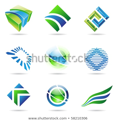 Diamond Shaped Striped Abstract Icon Stock photo © cidepix