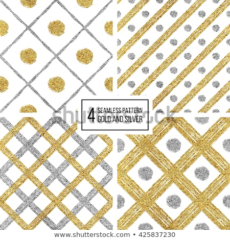 Stock photo: Vector Seamless Hand Drawn Diagonal Grunge Rounded Lines Pattern