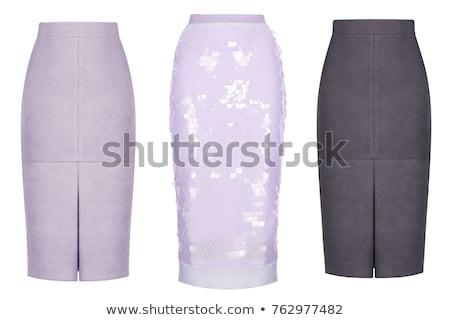 luxus · szoknya · izolált · fehér · divat · nyár - stock fotó © kayros