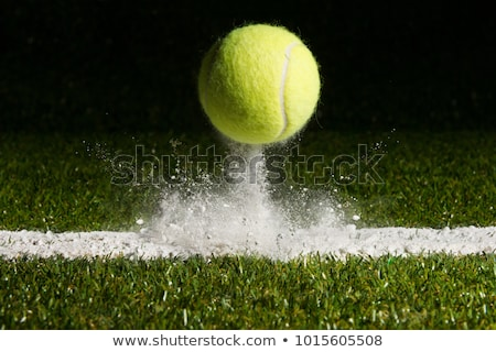 Tennis Court with bouncing ball Stock photo © njnightsky