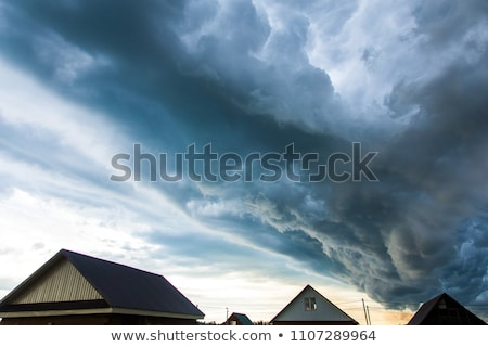 Scene with thunderstorms over the house Stock photo © bluering