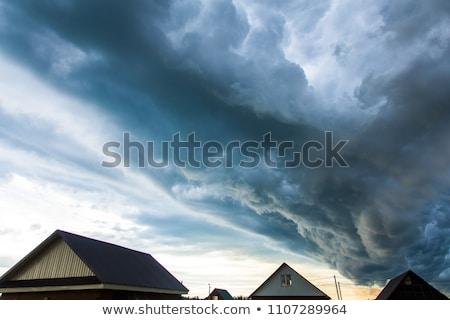 Sahne ev örnek manzara ev arka plan Stok fotoğraf © bluering