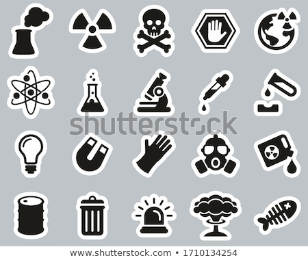 Photo stock: Nucléaire · explosion · ligne · icône · vecteur · isolé