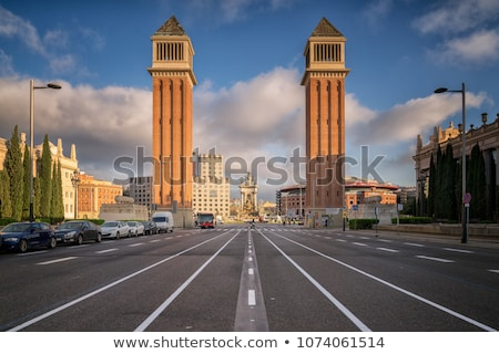 Venetian Towers Barcelona Stock photo © frimufilms