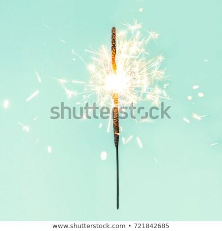 Geel Blauw sterretje zwarte partij Stockfoto © blackmoon979