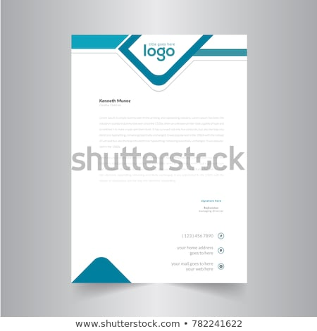 creative letterhead stationary template vector design illustrati Stock photo © SArts