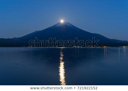 fuji · Панорама · Япония · горные · озеро · небе - Сток-фото © vichie81