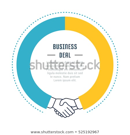Vector Infographic cooperation template Stock photo © orson