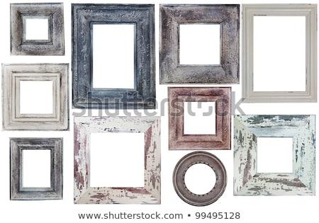 Antique gilded wooden Frame Isolated on white background Stock photo © smuki