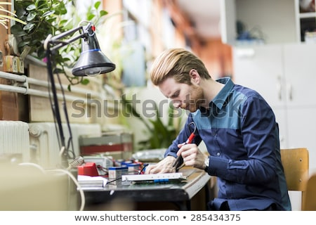 Man soldering Stock photo © piedmontphoto