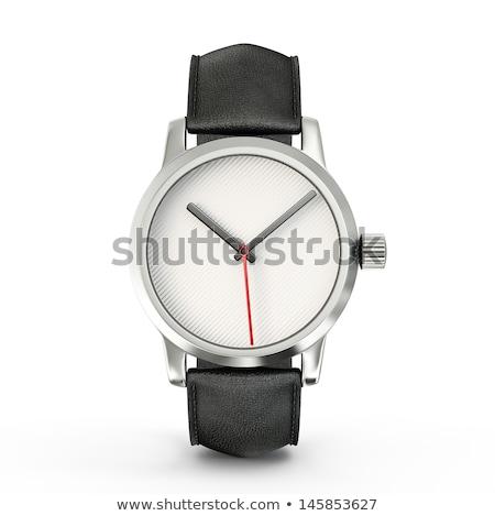 pas · cher · mécanique · isolé · blanche · horloge - photo stock © tussik